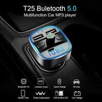 T25 Freisprecheinrichtung Bluetooth Car Kit FM Transmitter MP3 Player USB Charge