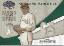 2004 Leaf Certified Materials Fabric Of The Game Number Jim Hunter 56 A's 57/65