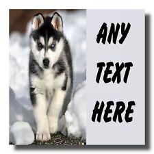 Siberian Husky Personalised Drinks Mat Coaster