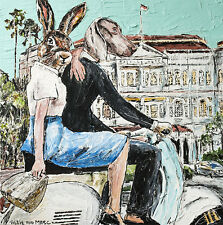 GILLIE AND MARC-direct from the artists-authentic artistic print Singapore vespa