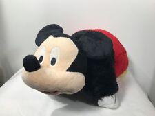 "Mickey Mouse Pillow Pets Authentic Disney 18""  Folding Plush Pillow Large EUC"