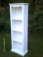 tall skinny bookcase chalky white shabby chic handmade