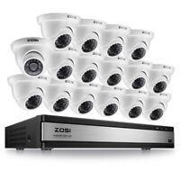 ZOSI 16CH 1080N TVI DVR Outdoor IR Night Vision LEDs Camera CCTV Security System