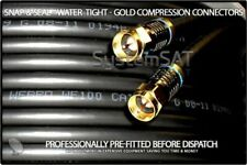 20m WF100 TWIN WEBRO - PRE-FITTED SNAP & SEAL GOLD COMPRESSION F CONNECTORS