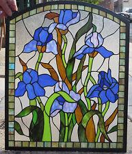 Stained Glass Window -- Irises -- NEW --  #80