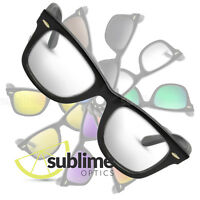 UV400 Clear Replacement Lenses For Ray Ban Original Wayfarer 54mm ~ Safety