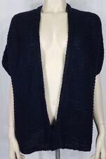 NWT Talbots dark blue open front 100% Linen cardigan sweater ladies Petite Large