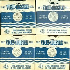 5 VINTAGE 1944-48 SAWYER'S VIEWMASTER REELS OF MEXICO
