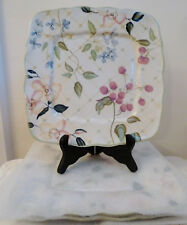 """4 TRACY PORTER EVELYN PATTERN 12"""" SQUARE DINNER  PLATES NEW-2 W/TAGS"""