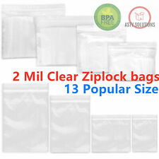 Clear Reclosable 2-Mil Zip Lock Plastic Bags Ziplock Baggies Poly Jewelry Bags