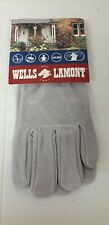 EXCELLENT QUALITY...COWHIDE LEATHER..NEW..WELLS LAMONT..GARDENING GLOVES