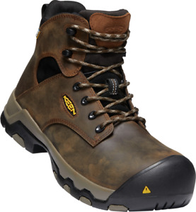 """Keen Rockoford 6"""" Waterproof Non-Metalic Composite Toe Safety Boots-- Clearance"""