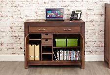 Mayan Solid Walnut Dark Wood Hideaway Home Office Desk Workstation