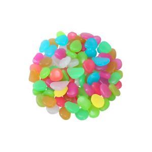 Shop-Story - Phosphostones Multicoloured: 100 Pebbles Fluorescent Decoration