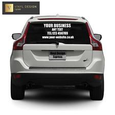 Personalised Business Rear Window Car & Van Vinyl Signs Stickers Decal,External
