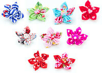 Large Flower Slide On Puppy Dog Collar Accessory - Hearts,Floral,Polka Dot
