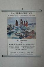 Marcel PARTURIER Affiche Originale Marine Galerie des Orfevres 1977