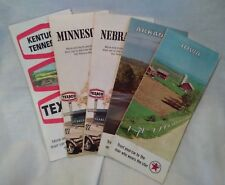 Five Vintage 70's Texaco Road Maps, Various Midwestern States