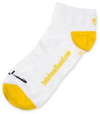Halo No Show Cuff Socks - Medium - White/Yellow