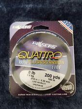 Hi Seas Quattro 100% Camo Fluorocarbon Line 200 Yard Spool 8Lb New