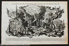 "ETCHING GRAVURE ACQUAFORTE KLAUBER Catharina ""Dal Libro di Isaia"" 1700"