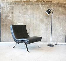 70er Ledersessel Loungesessel Relaxsessel Leder Mid-Century Vintage Easy Chair