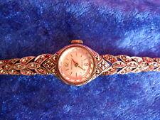 schöne,alte Armbanduhr__925 Silber__mit Glitzersteinen__Regency Swiss_ !