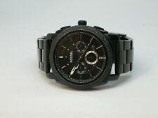 Men's Machine Black Dial Black Stainless Steel Watch Fossil FS-4552
