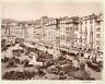 A. Noack, Italia, Genova, Piazza Caricamento  vintage albumen print. Vintage Ita
