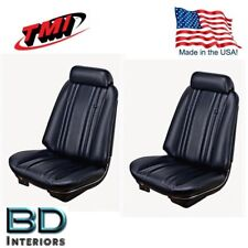 1969 Chevy Chevelle, El Camino Front Bucket Seat Upholstery Black, In Stock!!
