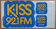 Early 1980s KISS 92.1 FM Bumper Sticker, Los Angeles, Contest On Back, 2 Bonus