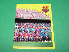 N°411 EQUIPE PART 2 FC BARCELONA BARCELONE PANINI FOOT 98 FOOTBALL 1997-1998