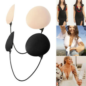 Invisible Push-Up Frontless Bra Silicone Deep Plunge Backless&Strapless Bra Kit