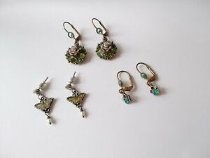 Michal Negrin Earrings Signed x 2 Pairs And Another