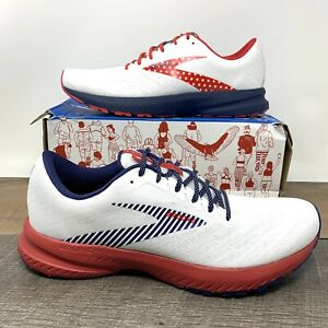Brooks Launch 7 USA Red White Blue Running Shoes - Men's Size 10 D