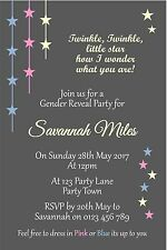 Personalised Baby Gender Reveal Baby Shower Invitation - You Print