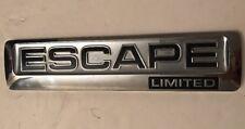 Ford Escape Limited Tailgate Badge Emblem Chrome 2010 OEM