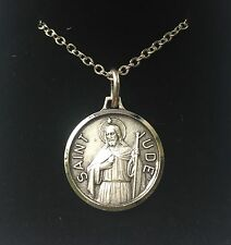 ST SAINT JUDE MEDAL NECKLACE PENDANT - GIFT BOXED