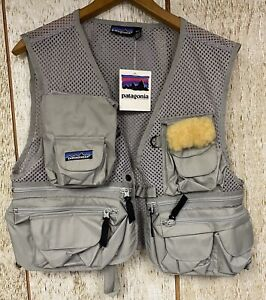 Patagonia Men's Beige Fly Fishing Mesh Outdoor Vest Size XS New With Tags