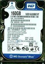 WD1600BEVT-22ZCT0,  DCM FANT2HBB,  WXCX  WESTERN DIGITAL SATA 160GB