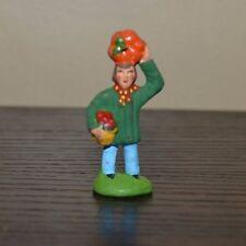 Vintage Santons Marcel Carbonel Man w/ Fruit Village Figurine Sz #1 Clay Figure