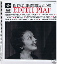 LP EDITH PIAF DE L'ACCORDEONISTE A MILORD