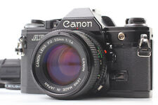 [Exc+5] Canon AE-1 Black 35mm SLR Film Camera w/ New FD 50mm F1.4 Lens Japan