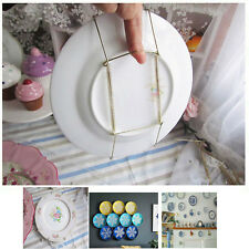 10Pcs 8 -14  Plate Hanger Plate Dish Display Plate Hangers for The Wall & Unbranded Metal Plate Racks u0026 Hangers | eBay