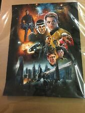 Star Trek Signed Poster Print Hero Complex Gallery Signed Approx 18 x 24 Inches