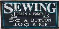 "Original Wood ""Sewing"" Sign"