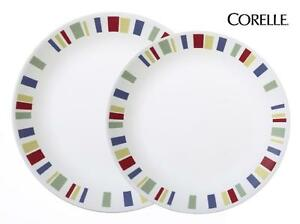 1 Corelle MEMPHIS Choose: DINNER or LUNCH PLATE Colorful RED BLUE GREEN YELLOW