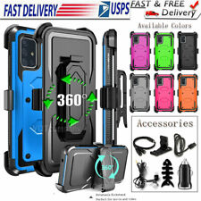 For Samsung Galaxy A51 A71 Shockproof Rugged Belt Clip Hard Case + Accessories