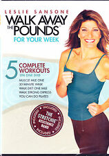 Leslie Sansone: Walk Away the Pounds - For Your Week DVD, 2009, With Stretchie
