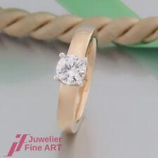 RING - SOLITÄR - 1 Brillant (Diamant) 0,78ct I/si 1 - 18K/750 Gold - neuwertig!